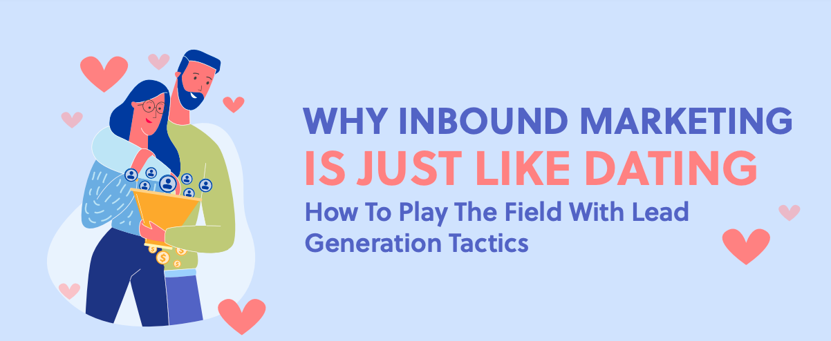 Inbound Marketing is Like Dating infographic