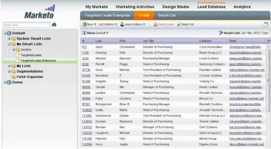 Marketo Screenshot