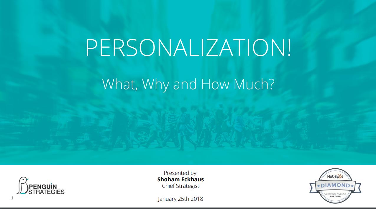 Web Personalization