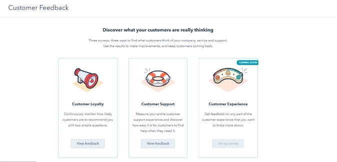 HubSpot Customer Feedback Feature