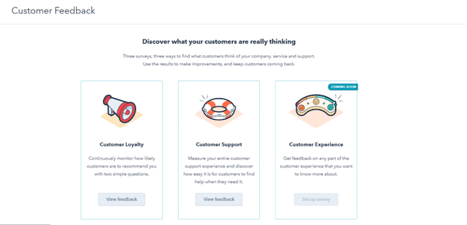 HubSpot Customer Feedback Feature